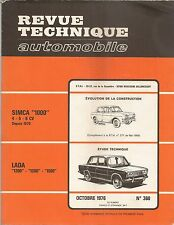 REVUE TECHNIQUE AUTOMOBILE 360 RTA 1976 LADA 1200 1300 1500 SIMCA 1000 1970+