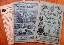 Agriculture/Horticulture 1920s THREE French Advertising Booklets