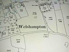 Old Antique Ordnance Map 1926 Shropshire XIII.4 Welshampton & Balmer Heath