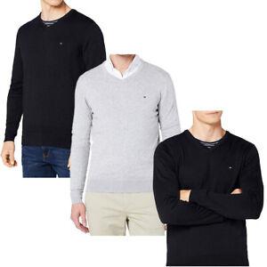 Tommy Hilfiger Herren Pullover V-Neck - Farbwahl (M-XXL)