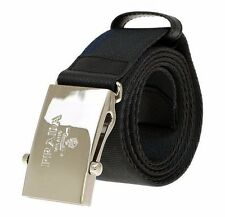 NEW PRADA MEN'S GRAY BLUE SAFFIANO LEATHER CANVAS LOGO BUCKLE BELT 105/42