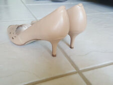 NINE WEST NEW WOMENS 8M, NUDE LEATHER CLASSIC PUMPS POINTY TOE