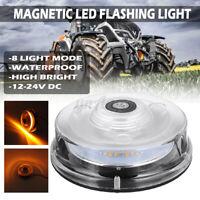 24W 48LED Strobo Lampeggiante Lampada Faro Magnetico Camion Ambra Allarme Luce
