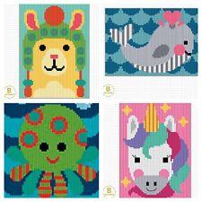 Long Stitch Embroidery Kit - Llama, Unicorn, Watermelon, Octopus - Canvas, Yarn