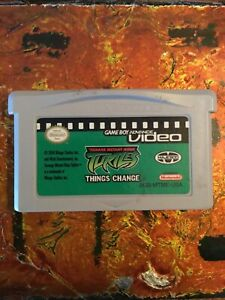 Turtles Video Things Change Nintendo Gameboy ADVANCE GBA Tested AUTHENTIC