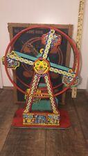 Antique J Chein Hercules Mechanical Ferris Wheel Tin Tony  Mint in box!