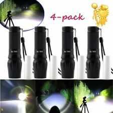 LOT4 2000LM Zoomable Cree XML T6 LED 18650 Flashlight Focus Torch Lamp Light BP