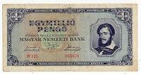 Ungheria - 1 Milione di  Pengo  - 1945 - cent 16,50  X 8,50  - 276  E
