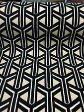 Dimension Black Geometric Chenille Upholstery Fabric by the yard