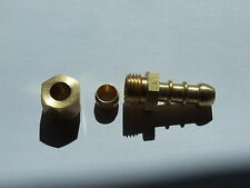 LPG Fulham nozzle 8mm ID Gas hose to 8mm copper pipe ( compression fitting).