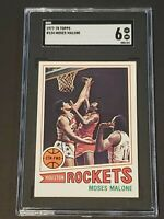 1977 Topps Moses Malone #124 SGC 6 Newly Graded