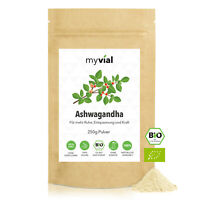 Bio Ashwagandha Pulver 250g | 100% naturrein - ohne Zusätze - Vegan - 100% rein