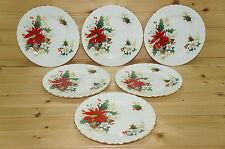 "Royal Albert Poinsettia (6) Bread & Butter Plates, 6 1/4"""