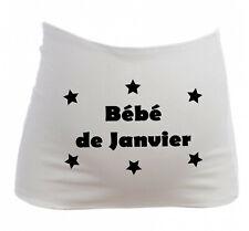 Bandeau Grossesse Maternité Bébé de Janvier - Femme Enceinte future maman