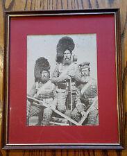 Vintage Framed Crimea War 72nd Highlanders ~ 32cm by 27cm ~ Image/print