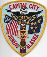 US Capital City HAUPTSTADT  ALASKA  Juneau  Polizei Abzeichen Police Patch USA
