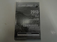 2013 Can Am Can-Am Commander 800R 1000 Operators Guide Owners Manual FACTORY NEW