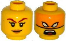 LEGO - Minifig Head Female Tan Lips, Smile / Orange Mask w/ White Eyes (Skylor)