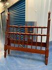 Handcrafted antique spindle-spool bed frame