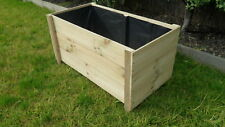 Small 3B Treated Pine Flower Garden Veggie Herb Cafe Rustic Raised Planter box