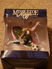 Mistletoe Magic Soccer Girl Ornament Goal New