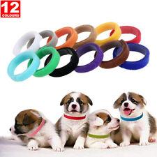 12pcs Solid Breakaway Puppy Id Collar Whelping Band Newborn Dog Cat Pet Breeders