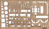 Schablone Architekt technische Zeichnungen Zeichenschablone Möbel Planung 1:50