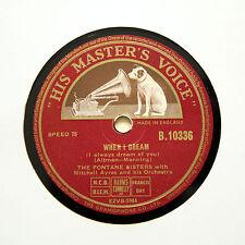 """THE FONTANE SISTERS """"When I Dream"""" (E+) HMV B-10336 [78 RPM]"""