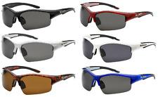6 Pack Wholesale Men's POLARIZED Sunglasses Sport Wrap New Sunglasses 3594