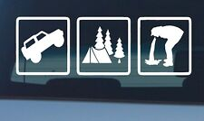4X4 CAMPING Fishing Sticker Funny Decal