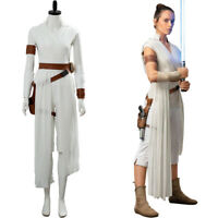 Star Wars The Rise of Skywalker Cosplay Rey Costume Outfit Full Set In Stock