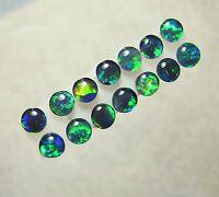 Australian Opal Gem Quality Opal Triplet Pairs,  Lightning Ridge 4mm, 14pc  8270
