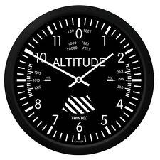 "New Trintec 10"" Classic Altimeter Wall Clock 9060-10 - A Great Aviation Gift"