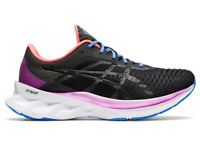 Asics Women's NOVABLAST Shoes NEW AUTHENTIC Black/Pink 1012A584 001
