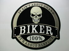 Biker 100% It Ain't About Brand its About Sew/Iron biker vest rider motorcycle