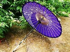 Japanese Wagasa Paper Umbrella Purple Kimono Samurai for Cosplay Japan