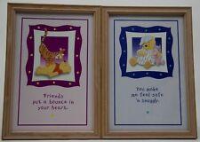 2 Disney 13x9 Winnie the Pooh Tigger Piglet Picture Wood Print