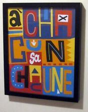 A chacun sa chacune - Peinture collage tableau citation affiche Art déco maison