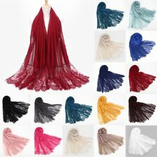 Womens multi 2 tone ombre shiny thread neck wrap up head scarf
