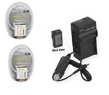 TWO 2X Batteries + Charger for Sony DSC-TX7L DSC-TX7R DSC-TX7S DSC-TX9 DSC-W610