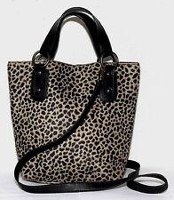MAURIZIO TAIUTI Made in Italy Leopard Print Calf Hair Tote  Crossbody Bag