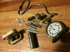 New ListingVintage 5 Items Pocket Watch & Fob, RedCross, Msa Ear Plugs&Case,InkPenNibs ,More