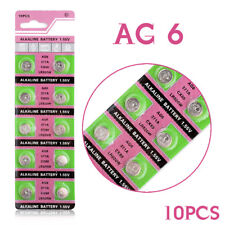 1.55V 10pcs AG6 Alkaline Batteries SG6 SR69 LR920SW V371 LR921 Coin Button Cell