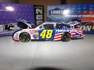 1/24 JIMMIE JOHNSON #48 LOWE'S / POWER OF PRIDE  2002 ACTION NASCAR DIECAST