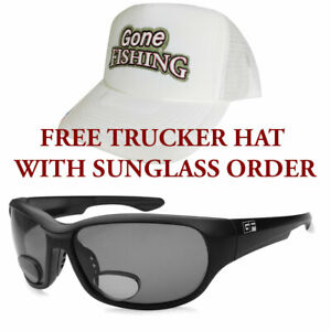 Bifocal Reader Sunglasses - Dorado - plus FREE Gone Fishing® Trucker Hat
