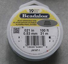 Beadalon 19 strand .021 diam 100' Beading Wire Bright Stainless Steel Free Ship