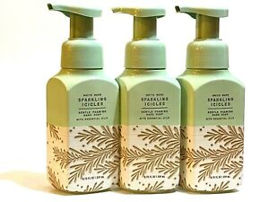 3 BATH & BODY WORKS SPARKLING ICICLES GENTLE FOAMING HAND SOAP WASH 8.75 FL OZ