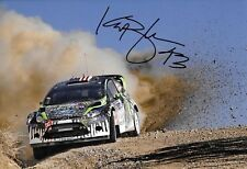 Ken Block SIGNED,12x8  Monster RS Ford Fiesta WRC , Rally Mexico  2011
