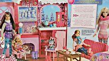 Barbie chalet de ski et 3 poupées-Entièrement NEUF dans sa boîte