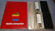 "Apple III Computer Software Color Plotter 5.25"" Floppy Disk in Apple Folder"